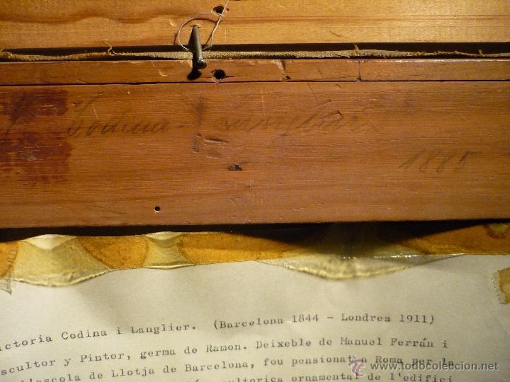 Arte: NATURALEZA MUERTA DE VICTORIANO CODINA LANGLIN (1844-1911) - Foto 5 - 46528924