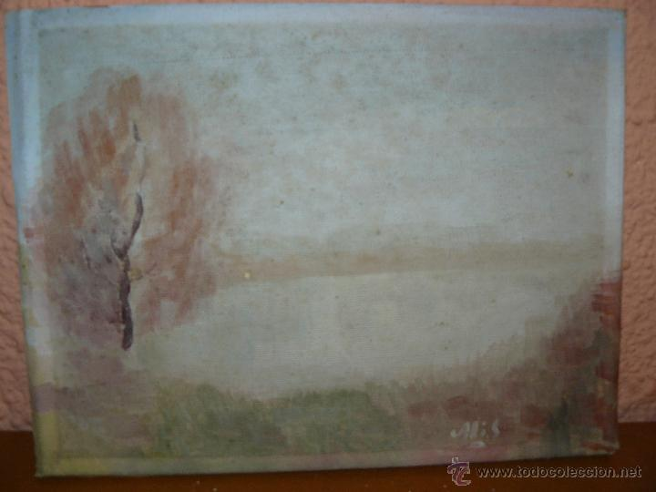 OLEO/ TELA - FIRMA ILEGIBLE - AMANECER (Arte - Pintura - Pintura al Óleo Contemporánea )