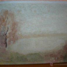 Arte: OLEO/ TELA - FIRMA ILEGIBLE - AMANECER. Lote 46574107