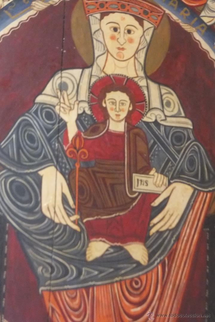Pintura Al Temple Sobre Tabla Virgen Romanica S Sold Through