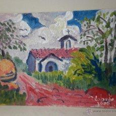 Arte: PINTURA SOBRE TABLA DEL SOBRARBE ARAGONÉS FIRMADO R LOBATO 20008. Lote 46599964