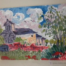 Arte: PINTURA SOBRE TABLA DEL SOBRARBE ARAGONÉS FIRMADO P LOBATO 20008. Lote 46603179