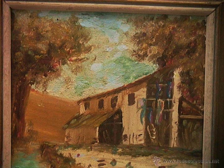 Arte: Paisaje pintura cuadro marco terracota - Foto 3 - 46661206