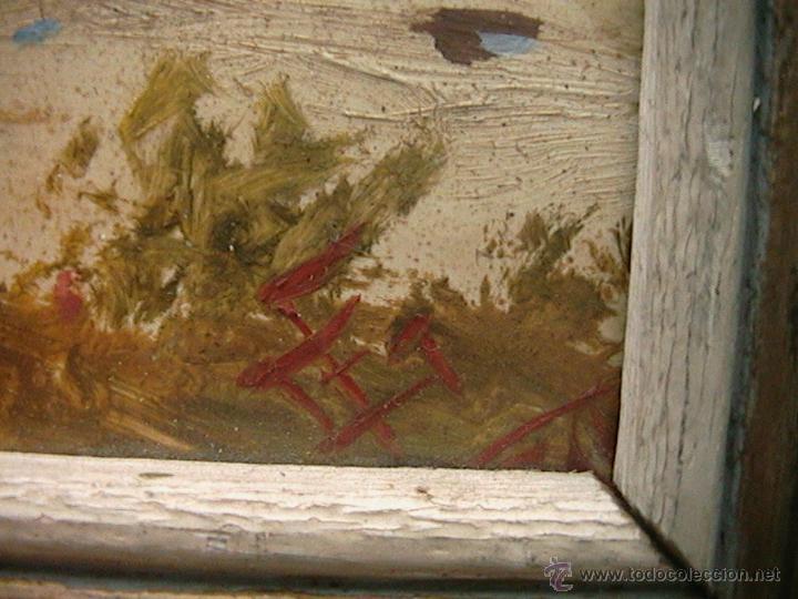 Arte: Paisaje pintura cuadro marco terracota - Foto 4 - 46661206