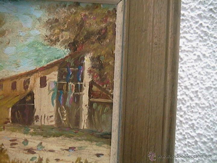 Arte: Paisaje pintura cuadro marco terracota - Foto 5 - 46661206