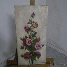Arte: BONITA Y ANTIGUA PINTURA FIRMADA POR ( J . CALVO ) CON SELLOS EN TRASERA DE BELLAS ARTES .. . Lote 46667206