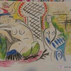 Arte: REPRODUCCION DE PICASSO .DIBUJO SOBRE PAPEL .. Lote 46714570