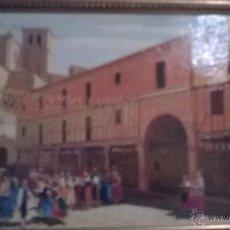 Arte: LIENZO PLAZA DE CHINCHON -PINTOR SORIA AEDO. Lote 46746496