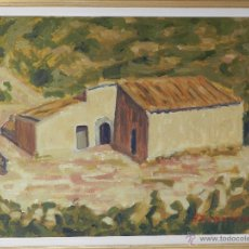 Arte: ÚLTIMOS DÍAS!! FANTÁSTICO OLEO DE LA TRAMUNTANA MALLORQUINA CON BELLO MARCO. Lote 46767268