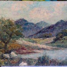 Arte: EDOARDO PANSINI (1886-1968) - PINTOR ITALIANO - ÓLEO SOBRE HARDBOARD. Lote 46897447