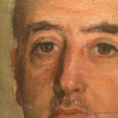 Arte: MAGNÍFICO ÓLEO DE MARTÍN SÁEZ (1923-1989), RETRATO DE FRANCISCO FRANCO. Lote 41989794