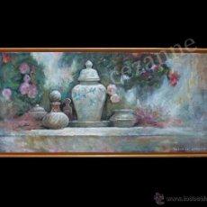 Arte: DOMINGO CORREA. 'JARDÍN DE LOS PERFUMES' ÓLEO SOBRE LIENZO. FIRMADO. ENMARCADO.. Lote 46963996