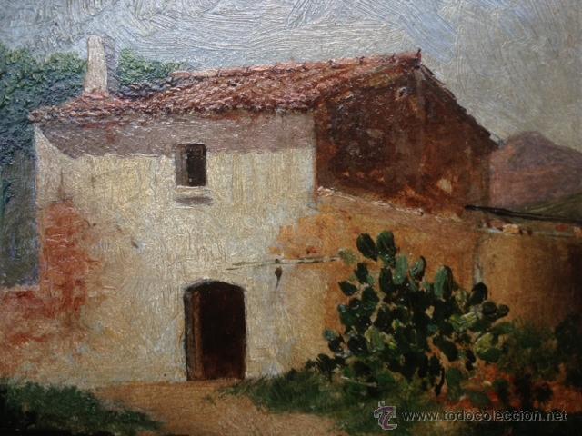 Arte: OLEO SOBRE CARTON, PAISAJE RURAL, FIRMADO EMILI CASALS I CAMPS , AÑOS 1910. 20X15CM - Foto 2 - 46978226