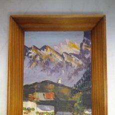 Arte: PRECIOSO OLEO PAISAJE TABLA FRANCIA AÑOS 40 ENMARCADO ORIGINAL PAISAJE MONTAÑA ALTA CALIDAD. Lote 47029791
