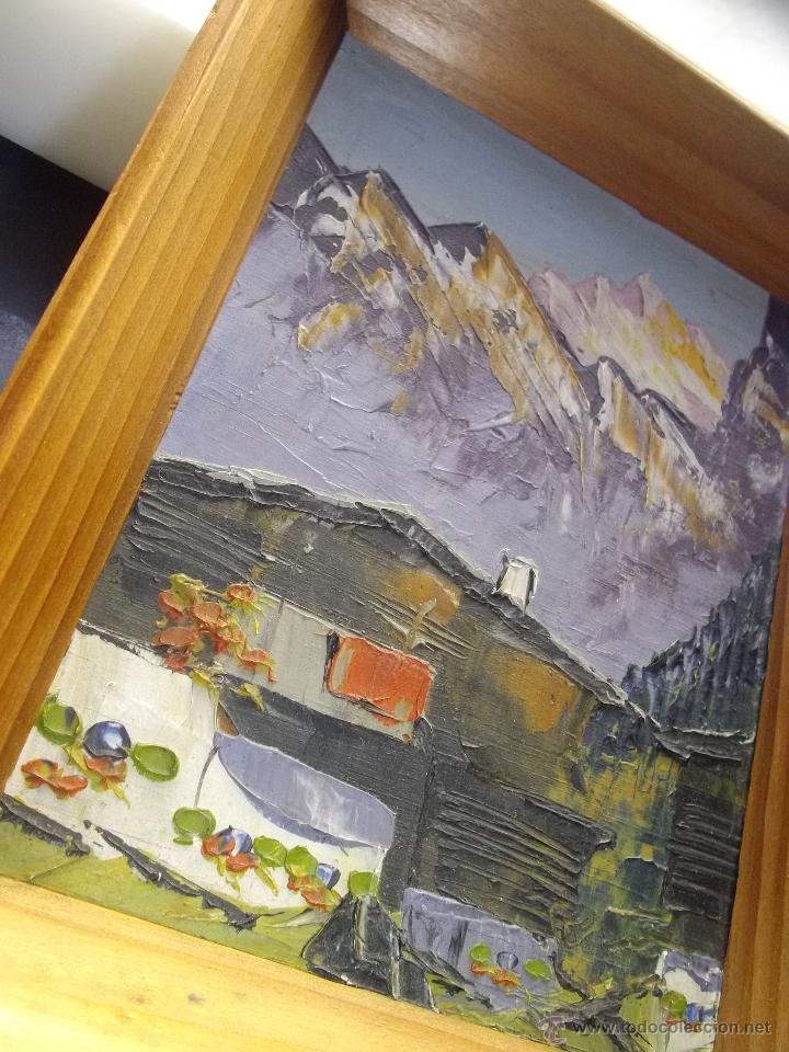 Arte: Precioso oleo paisaje tabla Francia años 40 enmarcado original paisaje montaña alta calidad - Foto 2 - 47029791