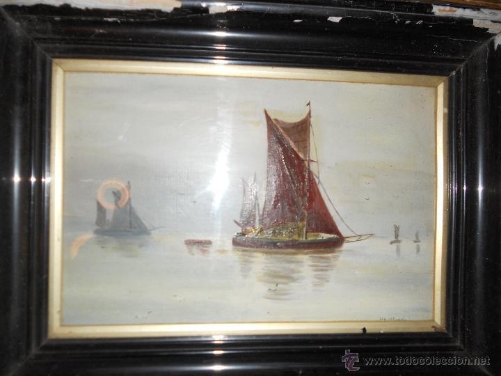 MARINA (Arte - Pintura - Pintura al Óleo Moderna siglo XIX)