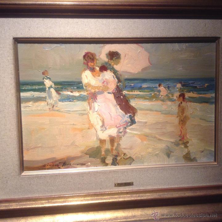 cuadro giner bueno oleo titulado en la playa 25 - Comprar Pintura al ...