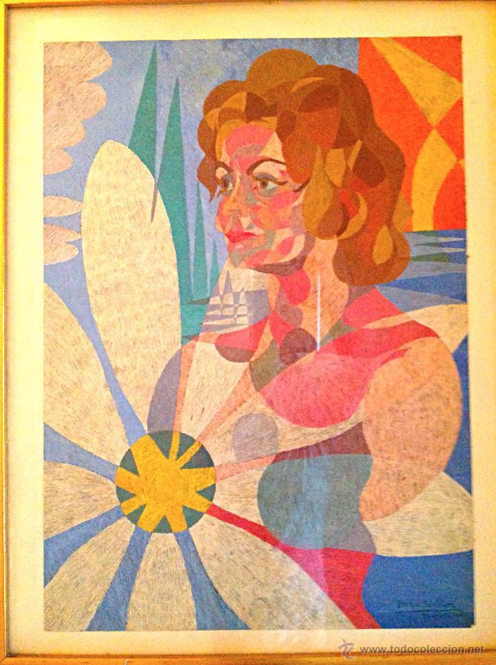 CUADRO DEL PINTOR BENLLIURE ALVAREZ ENRIQUE NACIDO EN MADRID 1922 / NIETO DE MARIANO BENLLIURE GIL (Arte - Pintura - Pintura al Óleo Contemporánea )