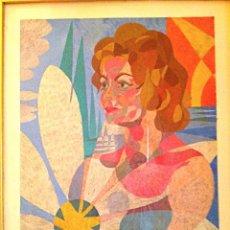 Arte: CUADRO DEL PINTOR BENLLIURE ALVAREZ ENRIQUE NACIDO EN MADRID 1922 / NIETO DE MARIANO BENLLIURE GIL. Lote 47248734