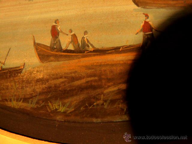 Arte: 3 miniaturas al óleo.Escuela veneciana, podria ser del xviii o anterior??gran calidad - Foto 4 - 120970326