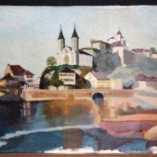 Arte: FIRMADO JOAN COTS (BARCELONA, 1927 - 2004) OLEO SOBRE TELA. PAISAJE. Lote 47278830