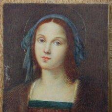 Arte: MINIATURA FIRMADA GARDELLI, SOBRE PLACA DE MARFIL SEGURAMENTE. S.XIX. 9X6,3 CM. MARCO: 12,5X15,5 CM.. Lote 47279110