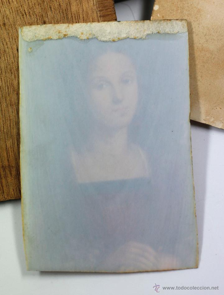 Arte: Miniatura firmada GARDELLI, sobre placa de marfil seguramente. S.XIX. 9x6,3 cm. Marco: 12,5x15,5 cm. - Foto 4 - 47279110