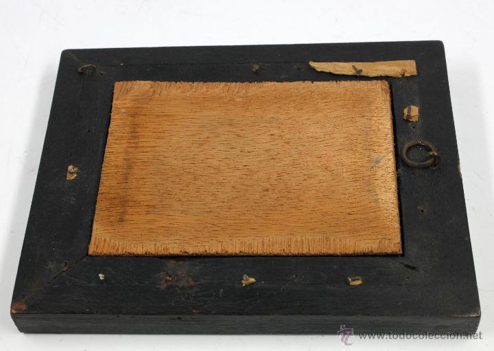 Arte: Miniatura firmada GARDELLI, sobre placa de marfil seguramente. S.XIX. 9x6,3 cm. Marco: 12,5x15,5 cm. - Foto 7 - 47279110