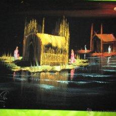 Arte: OLEO SOBRE TERCIOPELO NEGRO, PAISAJE IRAK, FIRMA DE AUTOR, MEDIDAS 49 X 38 CMS.ADQUIRIDO IRAK 2003. Lote 47287126