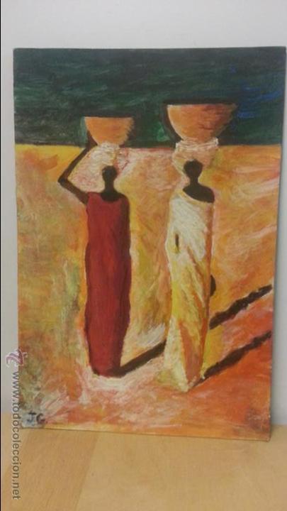 Pintura al oleo  inspiracion africana  oleo sob - Vendido en