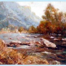 Arte: PERELLO VECIANA, SALVADOR (BARNA 1927), - REMANSO -.OLEO S/ LIENZO. FDO. ANVERSO Y REVERSO.65 X 54. Lote 47434173