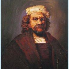 Arte: RETRATO AL OLEO SOBRE LIENZO DEL PINTOR - REMBRANT - SIN FIRMA VISIBLE. EN BASTIDOR 54 CM. X 65 CM.. Lote 93620597