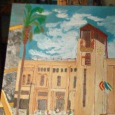 Arte: PLAZA DEL EJIDO (ALMERÍA ) TORRE , DEL PINTOR CRESPO. Lote 47479662