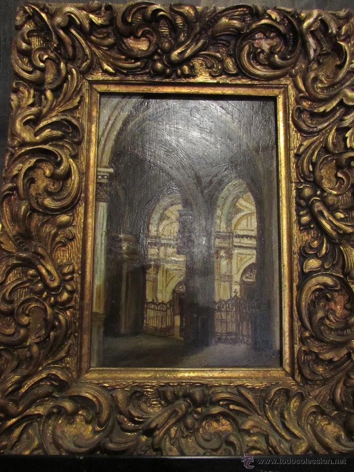 bonita pintura al óleo sobre tabla enmarcada y - Comprar Pintura al ...
