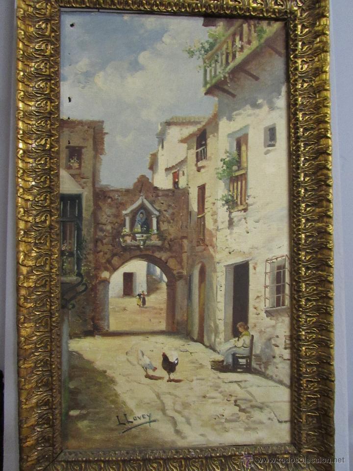 antigua pintura al óleo sobre lienzo enmarcada - Comprar Pintura al ...