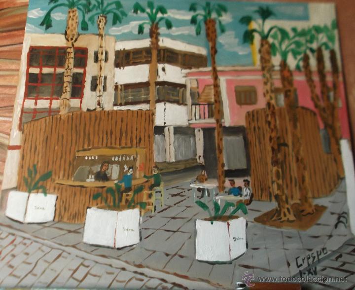 EL QUIOSCO DE CRESPO (Arte - Pintura Directa del Autor)