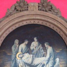 Arte: ÓLEO S/COBRE -ENTIERRO DE CRISTO-. SIGLO XVII -ESC. ITALIANA. CÓNCAVO CONVEXO. 30 CMS DE DIÁMETRO.. Lote 47661125
