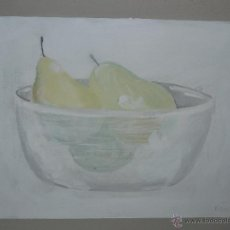 Arte: ACRILICO - FDO T . FONT - BOL CON PERAS. Lote 47672024