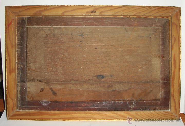 Arte: Oleo sobre Tabla de Caoba, Marina, S.XIX - Foto 6 - 34410412