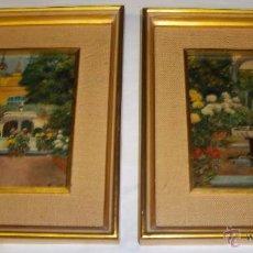 Arte: FELIPE GIL GALLANGO (SEVILLA, 1878-1938) PAREJA DE 2 ÓLEOS SOBRE TABLA.. Lote 38422445