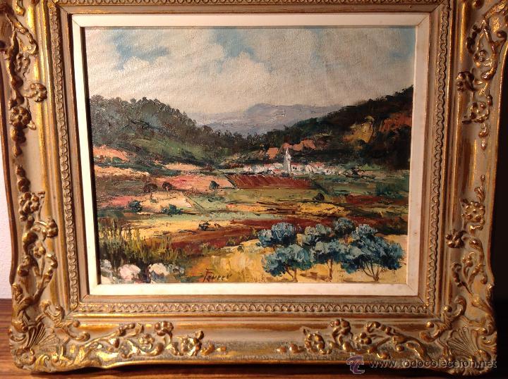 OLEO SOBRE LIENZO ESCUELA MALLORCA FERRER (Arte - Pintura - Pintura al Óleo Moderna siglo XIX)