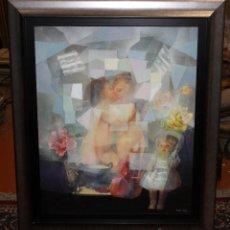 Arte: JOSÉ RAMÓN CAMPOS MARTÍN (MUSKIZ, VIZCAYA, 1944) TÉCNICA MIXTA SOBRE LIENZO. Lote 76065489
