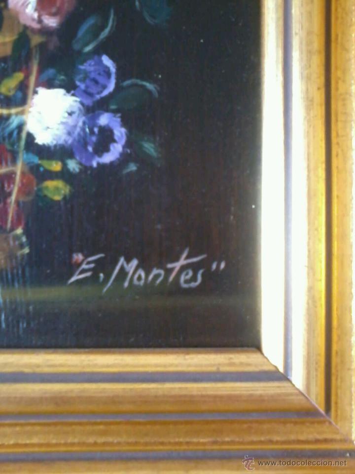 Arte: FLORES II DE ENRIQUE MONTES. - Foto 6 - 48289814