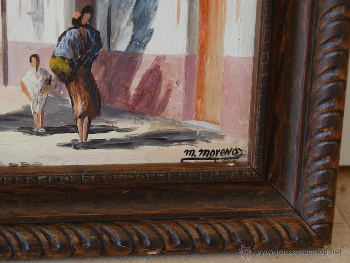 Arte: CALLEJÓN DEL AGUA: SEVILLA ( firmado: M. Moreno - Sevilla ) - Foto 3 - 27955795
