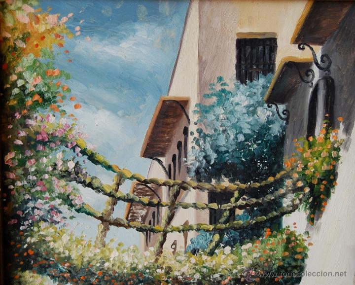 Arte: CALLEJÓN DEL AGUA: SEVILLA ( firmado: M. Moreno - Sevilla ) - Foto 4 - 27955795
