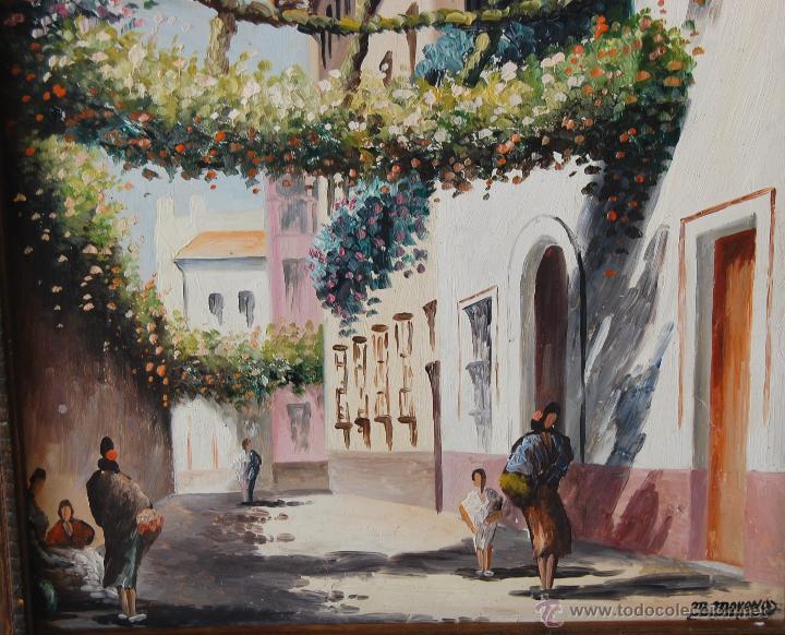 Arte: CALLEJÓN DEL AGUA: SEVILLA ( firmado: M. Moreno - Sevilla ) - Foto 5 - 27955795