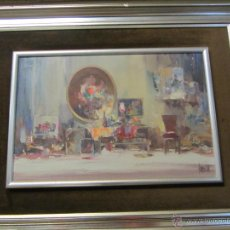 Arte: BONITO CUADRO AL ÓLEO SALVADOR RODRÍGUEZ BRONCHÚ -GODELLA (VALENCIA) 1913 - 1999. Lote 48308515