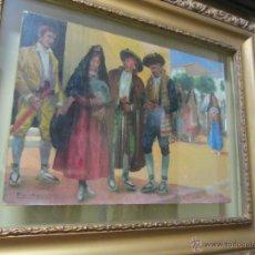 Arte: BONITA PINTURA DE JUAN BELDA MORALES -BURJASSOT (VALENCIA) 1862 - 1944. Lote 48308595