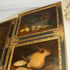 Arte: ANTIGUA PAREJA DE BODEGONES. OLEO SOBRE LIENZO. S.XIX. MARCO DE MADERA.. Lote 48312937