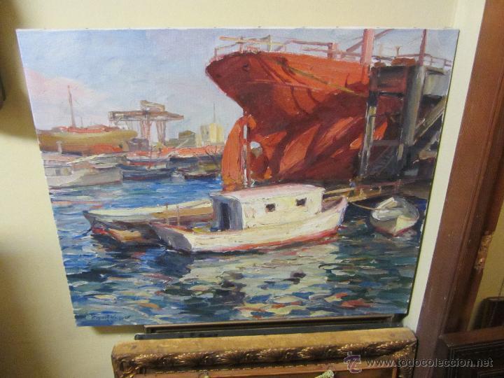 BONITO ÓLEO SOBRE LIENZO DE MIGUEL VAQUER - ONDARA 1910 - VALENCIA 1988 (Arte - Pintura - Pintura al Óleo Moderna siglo XIX)